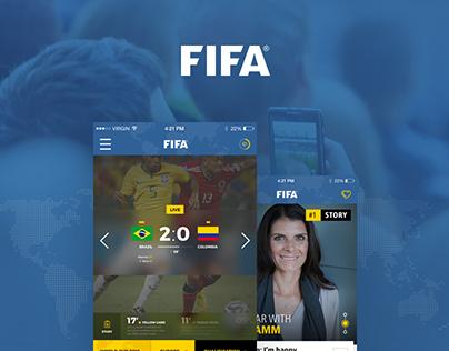 Concept UI design for FIFA Mobile App