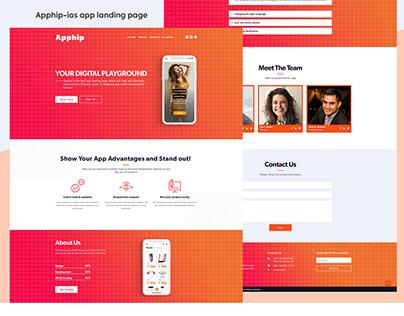 Apphip-ios app landing page design