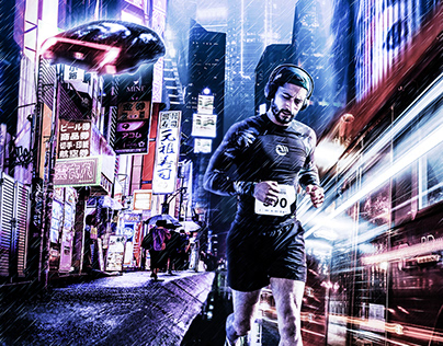 Fotomontaje - Nike Cyberpunk