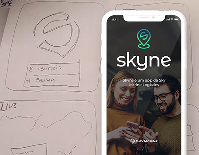 Skyne - Drawing an app in five days with design sprint