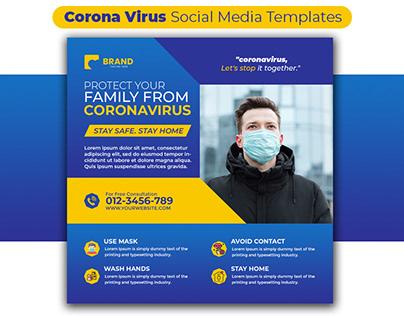 Corona Virus Social Media Templates