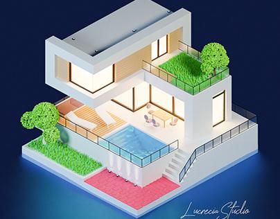 Luxury House at Night