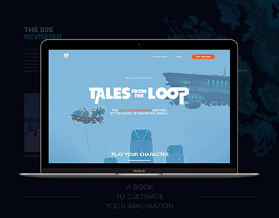 Tales from the Loop - Website design