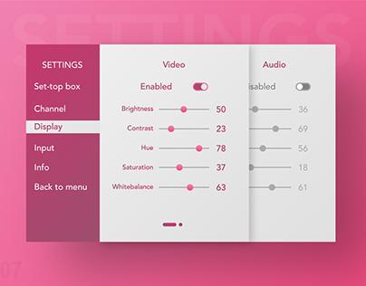 Daily ui : 07 settings screen