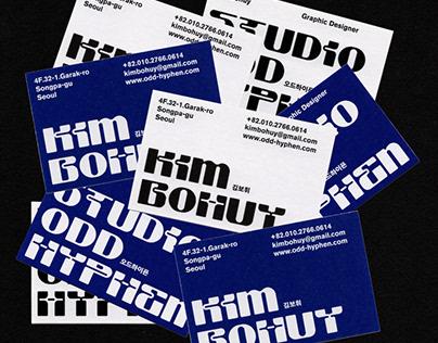 ODD HYPHEN businesscard