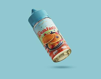 Label Design Concept Berry Pancake E-Liquid