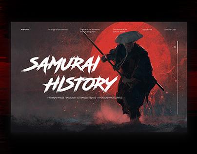 longread page Samurai history Concept