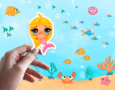 Character design for children's cosmetic brand