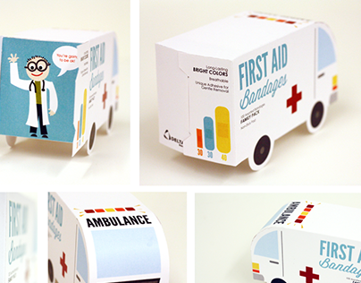 First Aid Bandages | Packaging Design