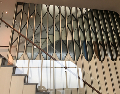 Slumped Glass Wall
