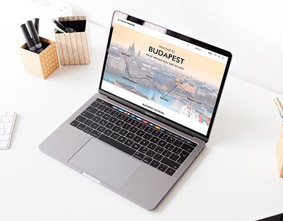 Budapest Travel Website Design