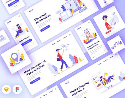 Freebie Pulse Illustration Kit