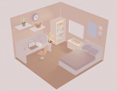 Chambre isométrique 3D