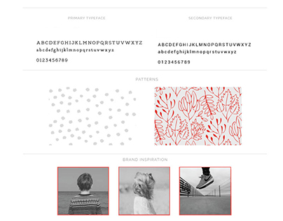 Brand board for a children's clothing boutique, Red Fox