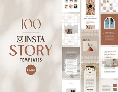 Instagram Story Templates Canva Shadow- Editable Pack