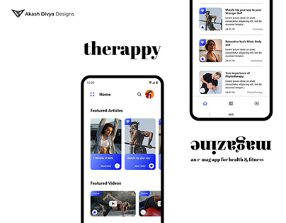 Therappy - UI/UX of Android App for Health Magazine
