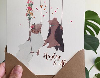 Hayley & Ali´s Wedding Invites