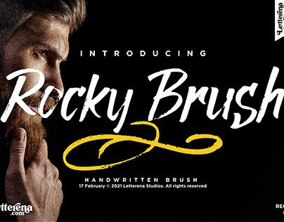 Rocky Brush - Brush Font