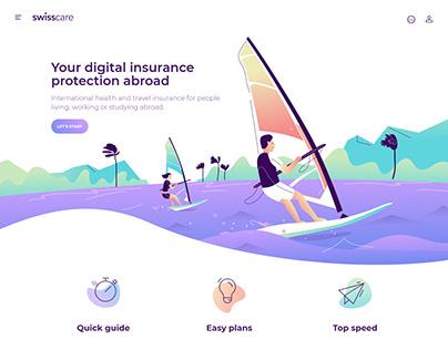Swisscare Website Illustrations