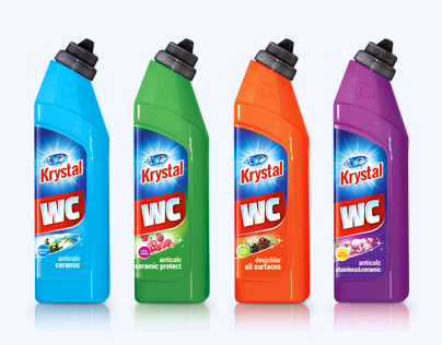 Krystal household cleaners - packaging design
