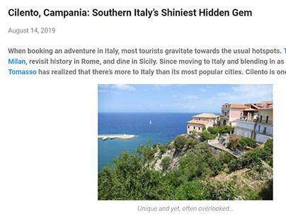 Italy's Hidden Gem: Cilento, Campania