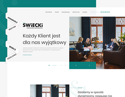 Świecki - Law Firm Website