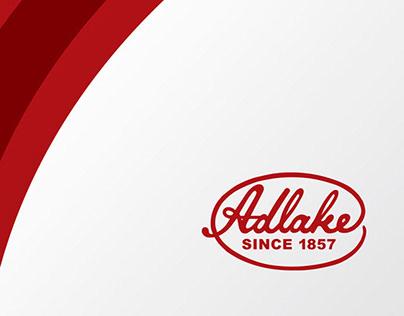 Adlake company brochure and postcard designs