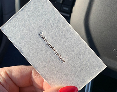 The business cards for a mathematician
