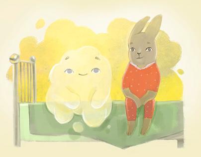 """""""Darkness"""" Children's book illustrations."""