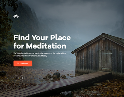 Find Your Place for Meditation Landing Page
