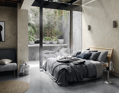 Tropical Bedroom-design by ZHome