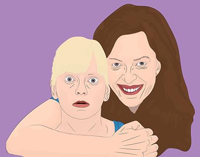Mom Tv Series Illustration