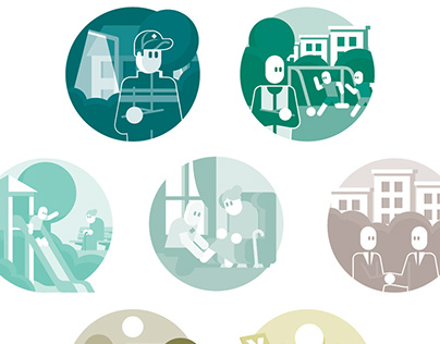 Social Themes | illustrations & icon design