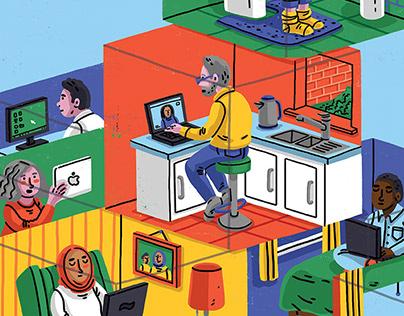 Editorial illustrations: 2020-2021