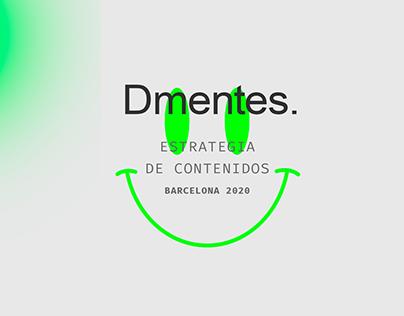Social Media Plan- D_Mentes // Barcelona 2020