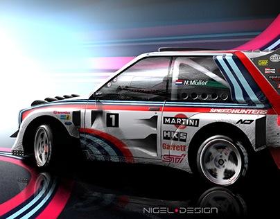 Imaginary Group B Rally Car Digital Art