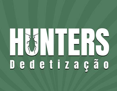 Desenvolvimento de marca e guide da Hunters Dedetização