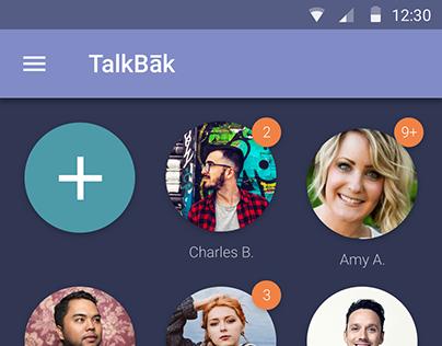 TalkBak Mobile App - UI/UX