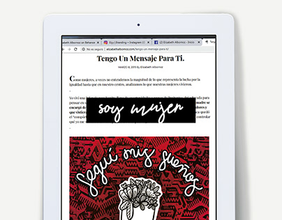 Soy mujer (nota blog) - Lettering