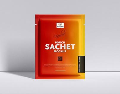 Free Packaging Sachet Mockup