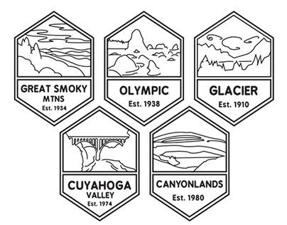 National Park Badges