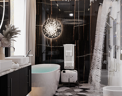 Master-bathroom in a private house