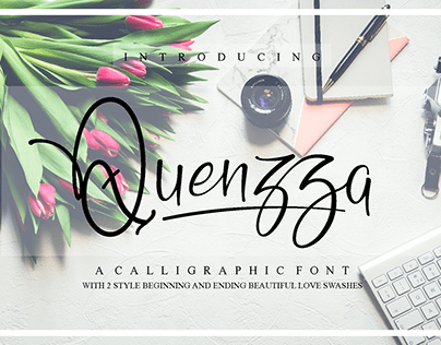 Quenzza - A Calligraphic Font