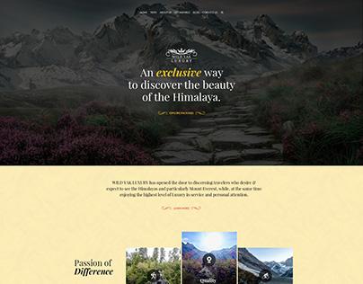 Luxury adventure website design