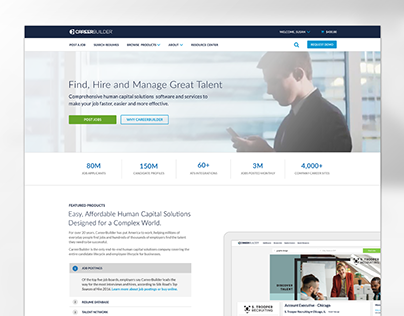 CareerBuilder Employer Site Home Page