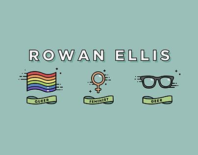 Youtube Banner - Rowan Ellis