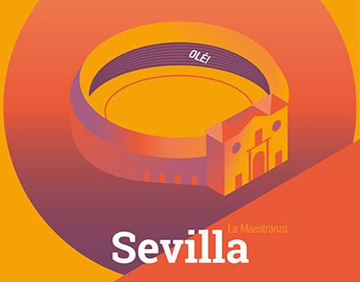 Illustration about Seville Monuments
