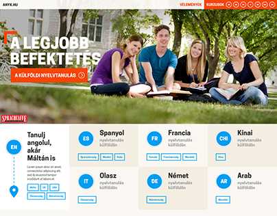 Angol Nyelvtanulás Külföldön - website design