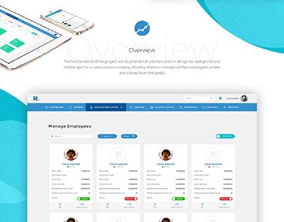 Mobile App & Web Portal for Construction App