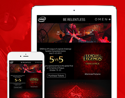 OMEN by HP Campaign Site - UI UX Design